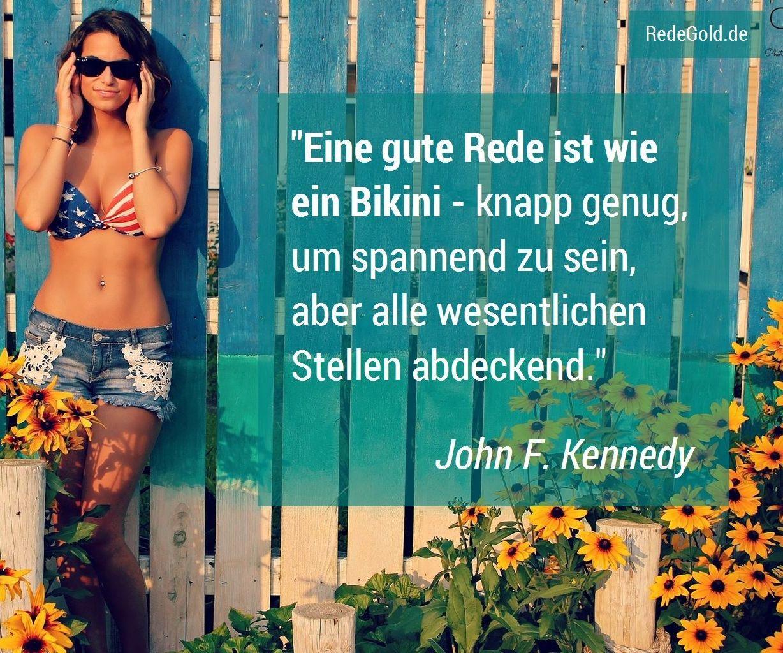 Bikini-Zitat Rede schreiben
