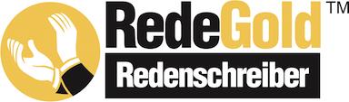 Redenschreiber kostenlos testen: RedeGold Redenschreiber Sticky Logo Retina